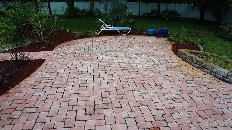 Paver Sealing Before | Peter's Pressure Washing