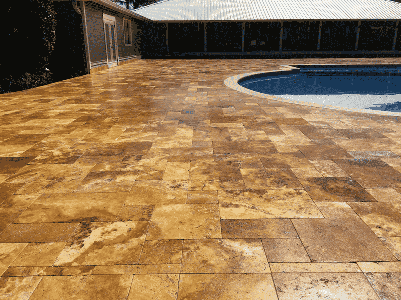 Travertine After | Peter's Pressure Washing